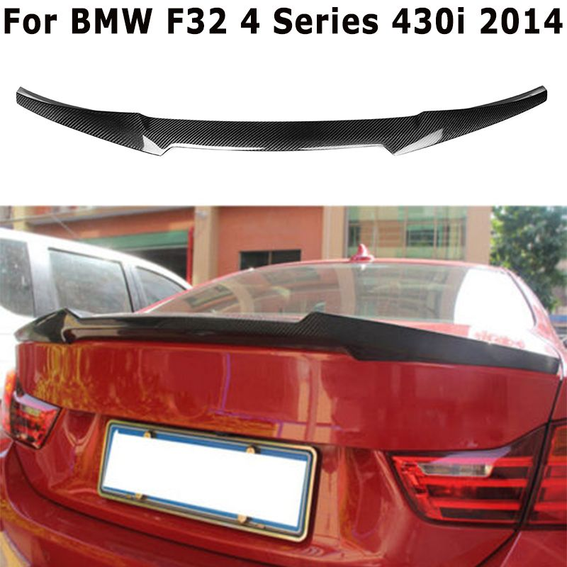 2019 nouveau F32 Full Real fibre de carbone coffre arrière Spoiler coffre lèvre de coffre pour BMW F32 4 série 430i M4 TYPE 2014 +