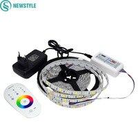DC12V 5050 RGBW/RGBWW Şerit Led Işık Su Geçirmez FlexibleTape Şerit SMD + RF Dokunmatik Uzaktan Kontrolör + 3A Güç adaptör Kaynağı