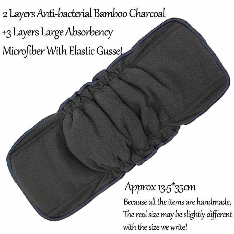 Новый бамбуковый уголь многоразовые подгузники вставки бамбуковый хлопок ткань из конопли при смене подгузников коврик подгузник из микрофибры вкладыши моющиеся