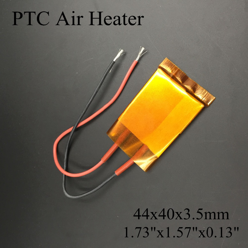 (2 pieces/lot) 220V 44x40x3.5mm Thermistor PTC Ceramic Air Heater Plate Core With Insulating Film Heating Element Chips 2 pcs lot hot air gun 858 858d 858d 8586 ceramic heating element heater core