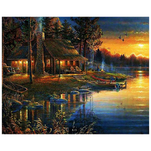 Diy diamond embroidery landscape sunset 5D Full square diamond mosaic cross stitch Home Decoration painting needlework fullcang diy 5pcs full square diamond embroidery wolf and scenery diamond painting cross stitch 5d mosaic needlework kits d952