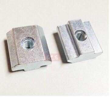 100pcs M4 M5 M6 M8 T Sliding Nut Block Zinc Plated Carbon Steel Aluminum Accessories For 3030 Aluminum Profile