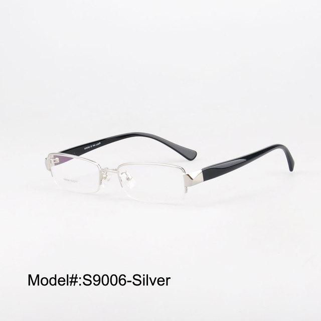 S9006 Estilo Medio borde del marco óptico con clip de gafas de sol para los hombres gafas ópticas gafas de sol sombrillas