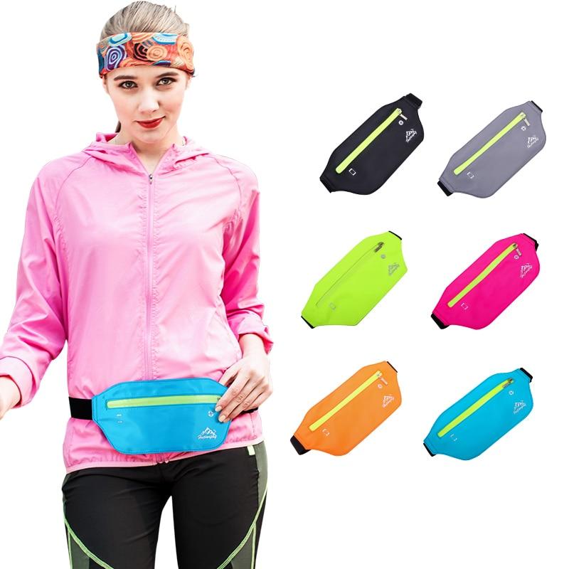 Running Bags Belts Waist Pack Fashion Travel Waterproof Mobile Phone Portable Handbags Unisex Pockets Ladies Belly Bag Purse