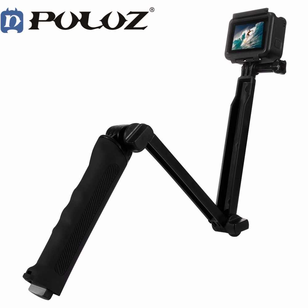Puluz 3 Way Floating Handle Grip Tripod Mount Selfie Stick for Go pro HERO 6 5 4 3+ 3 2 1 For Gopro Hero Accessories