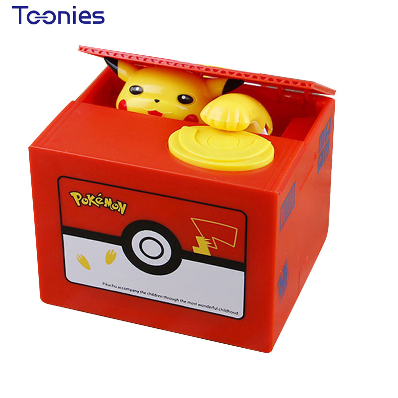 Pokemon Money Box Picachu Cartoon Tirelire Cofre De Moeda Music Stealing Money Electric Colorful