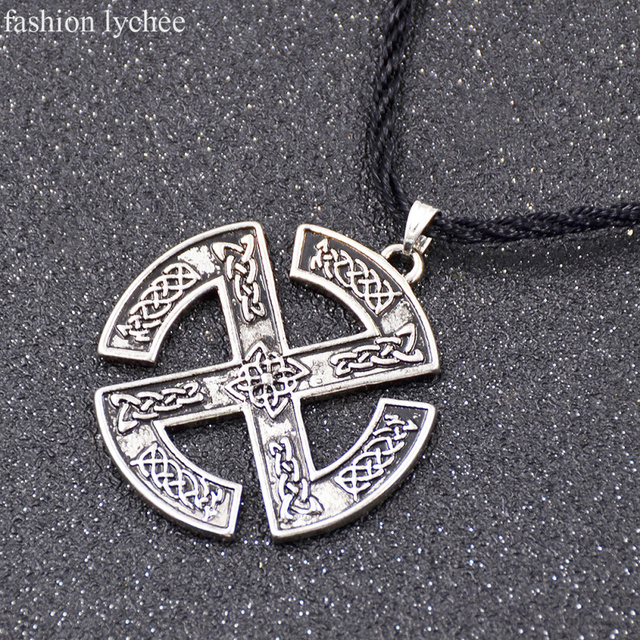 Fashion lychee norse viking nordic sun wheel pagan scandinavian fashion lychee norse viking nordic sun wheel pagan scandinavian pendant necklace slavic steampunk rope chain necklace aloadofball Choice Image