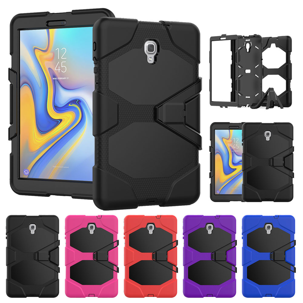 <font><b>Case</b></font> For Samsung Galaxy Tab A A2 10.5 inch 2018 <font><b>SM</b></font> <font><b>T590</b></font> T595 T597 <font><b>Case</b></font> Shockproof Silicon Three Layer Stand <font><b>Case</b></font> Cover image