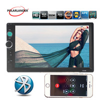 Car radio 4 languages 2 Din hand free Bluetooth FM Touch Screen USB/TF/AUX Stereo Remote control MP5 Player