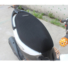 Motorcycle Sunscreen Seat Cover Breathable Summer Cool 3D Mesh Moped Motorbike Scooter Covers Cushion Anti-Slip