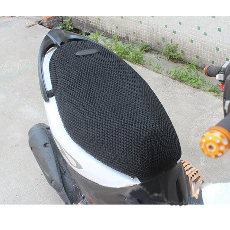 Motorcycle Sunscreen Seat Cover Breathable Summer Cool 3D Mesh Motorcycle Moped Motorbike Scooter Seat Covers Cushion Anti-Slip