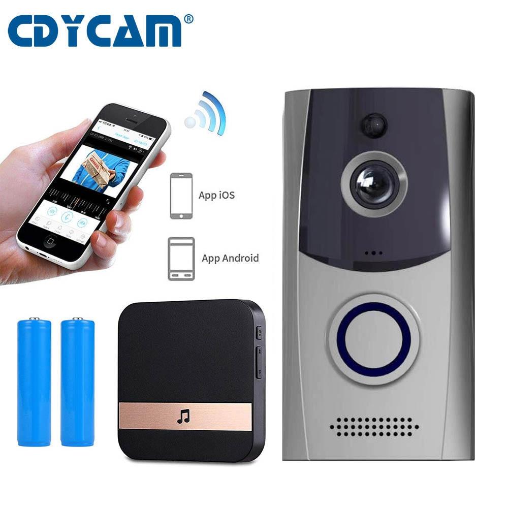 CDYCAM Waterproof Video Wifi Doorbell Intercom Alarm for Home Villa Wireless Video Door phone Use Battery