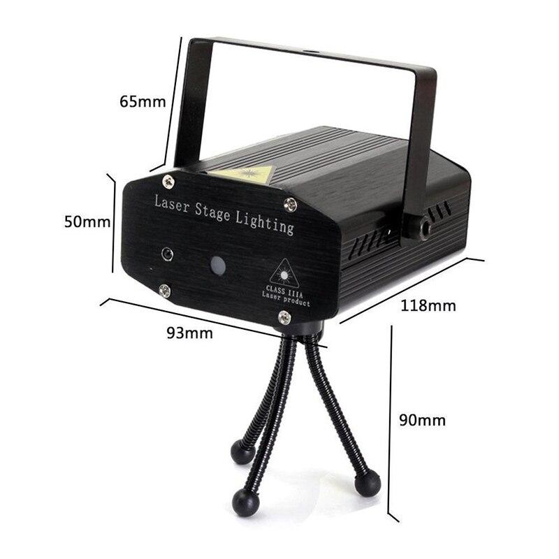 Светодиодный диско DJ вечерние лазерные лучи 7RGB Цвет стадии вспышки света звуковой активации с удаленного Управление для вечеринок номер шо...