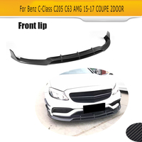 C Class Carbon Fiber Front Bumper Lip Spoiler Kit For Mercedes Benz C205 C63 AMG S