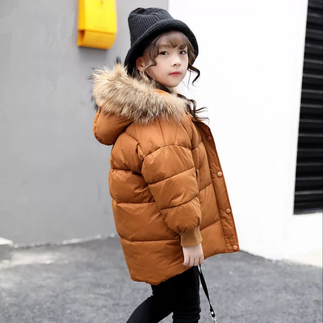 NeuSud Kids Official Store 2017 New Baby Winter Girls Cotton Coat Children Thicken Jackets Kids Warm Outercoat Toddler  Padded Jacket,3-8Y,#2359