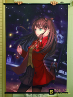 Fate/stay night HD Cartoon Scrolls Poster Children bedroom Decoration Animation Banners Hanging Art Waterproof Cloth 60X90 CM