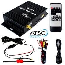 USA Canada Mixico South Korea Car Digital Terrestrial HD/SD ATSC TV Tuner Receiver 4 Video Out With Active Amplifier VHF Antenna