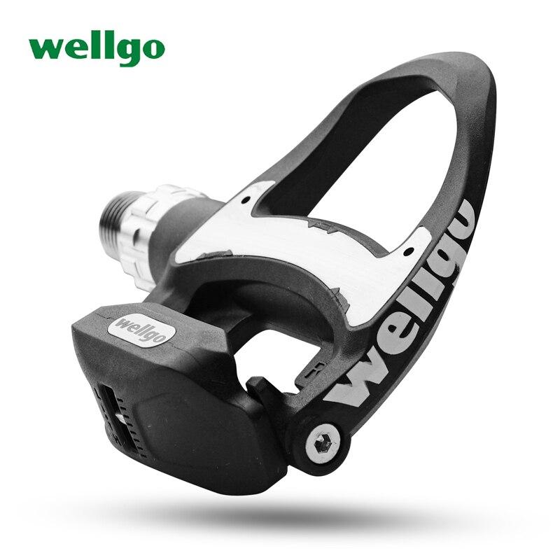 Wellgo R312 249g Ultra-Léger Carbone Route Vélo Pédales automatiques avec 3 Portant look keo Compatible comprennent deux paires crampons