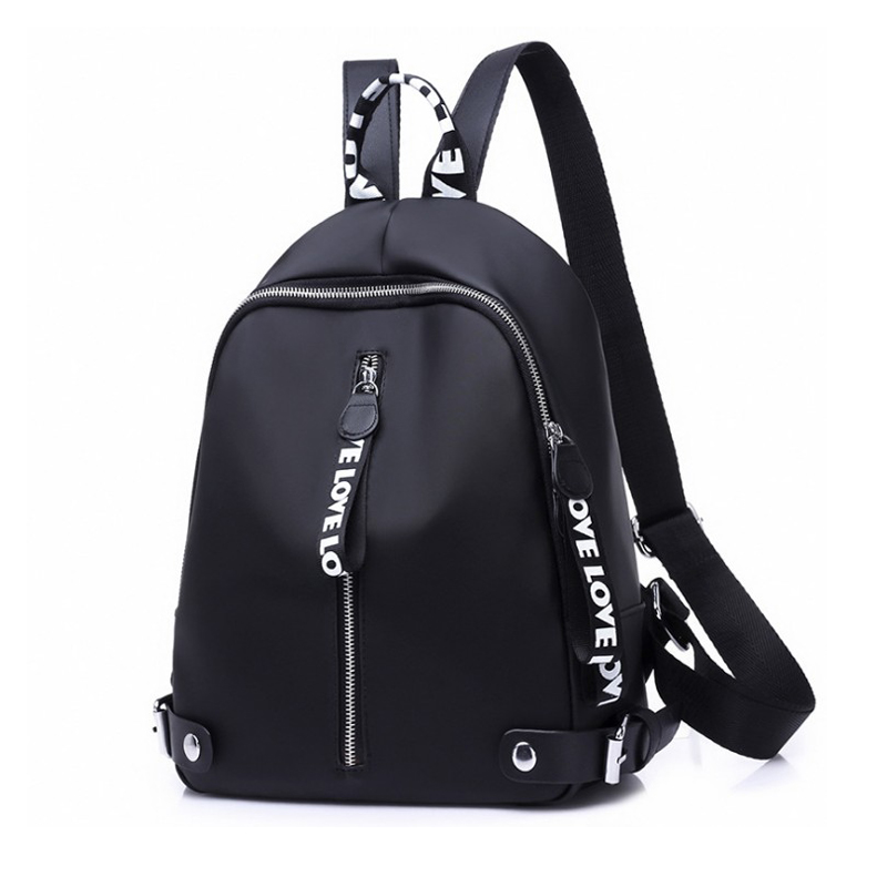 2019 Casual Backpack Women Black Oxford School Bags for Teenagers Girls Waterproof Nylon High Quality Travel Backpack Female image