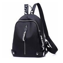 2019 mochila Casual para mujer, mochila de Oxford negra para adolescentes, mochila de viaje de nailon resistente al agua, de alta calidad para mujer