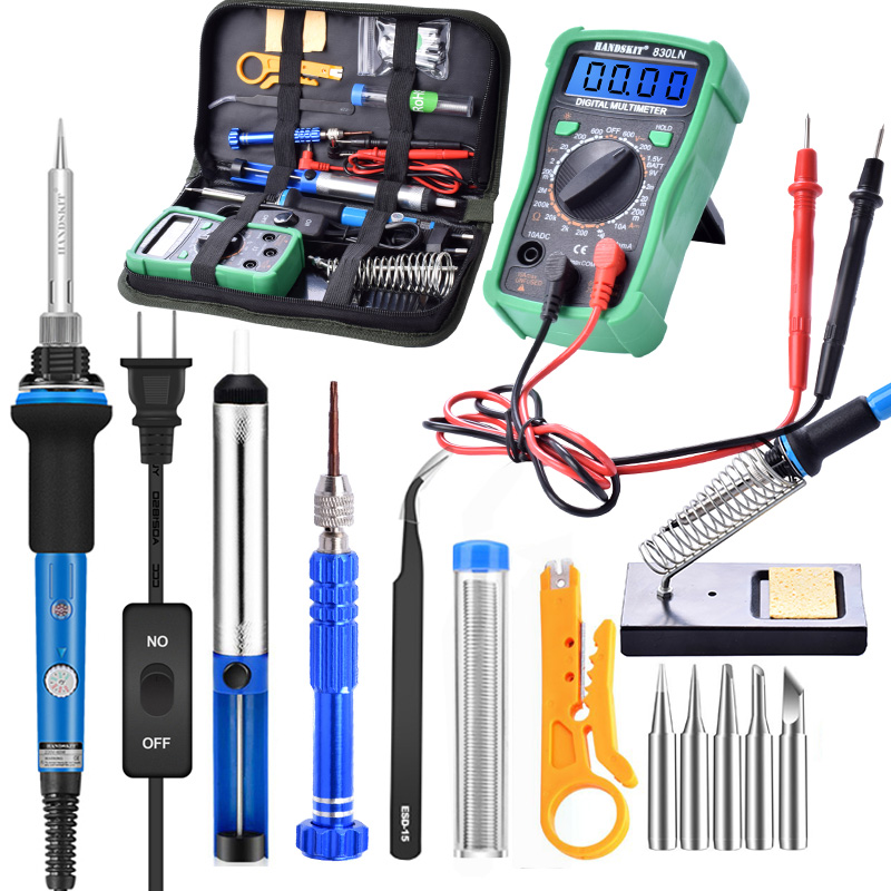 ebakey Temperature Electric Soldering Iron Kit 110V 220V 60W Soldering Iron kit With Multimeter Desoldeirng Pump
