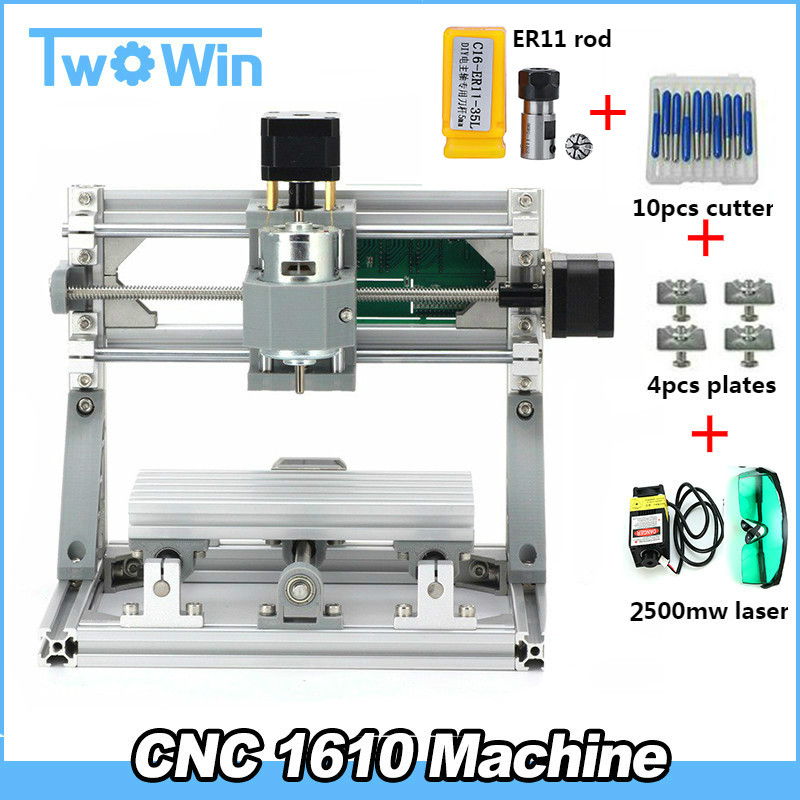 CNC 1610 diy cnc engraving machine mini Pcb Milling Machine Wood Carving machine cnc router cnc1610