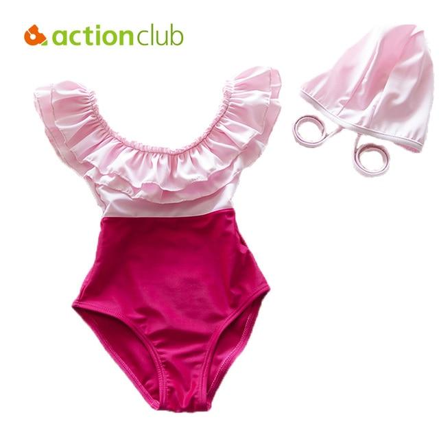 Actionclub  One-piece Children Bikini Swimsuit Swimwear For 2-10Year Little Girl  Beach Bathing Suit biquini infantil SA199