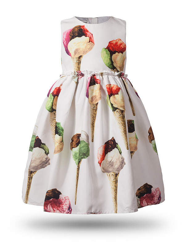 New Girls Dress Brand Summer Clothes Ice Cream Print Costumes Sleeveless Kids Clothing Cute Children Vest Dress Princess Dress new girls dress brand summer clothes ice cream print costumes sleeveless kids clothing cute children vest dress princess dress