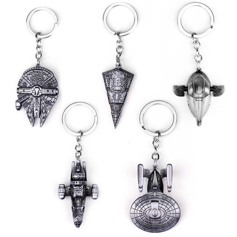 Горячая Распродажа, новинка, модный брелок для ключей с принтом из фильма Звездные войны, воздушный корабль, сокол, космический корабль для мужчин и женщин, автомобильный брелок, ювелирное изделие