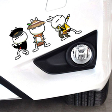 Car-Styling Tuzki Action Funny Car Sticker Cover Scratches Cartoon Decal For Ford Focus 2 Mazda 3 Peugeot 206 307 Kia Opel Skoda