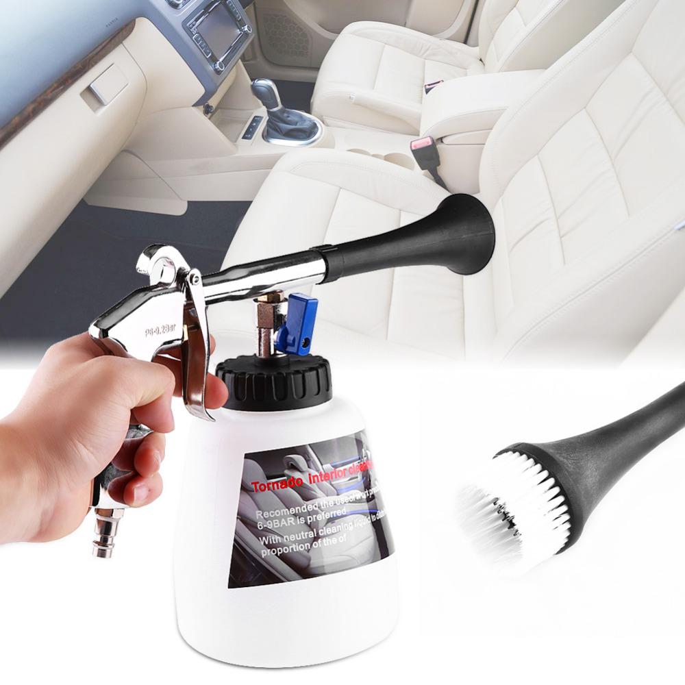 Intérieur de la voiture haute puissance de nettoyage air laveuse pouls buse pulvérisateur mousse bouteille propre