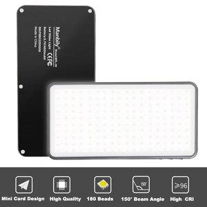 Image 3 - Manbily MFL 06 Mini Portable Photography Lighting Ultral Thin 4500mAh LED Video Light 180 LEDs Fill Light High CRI>96 for Camera