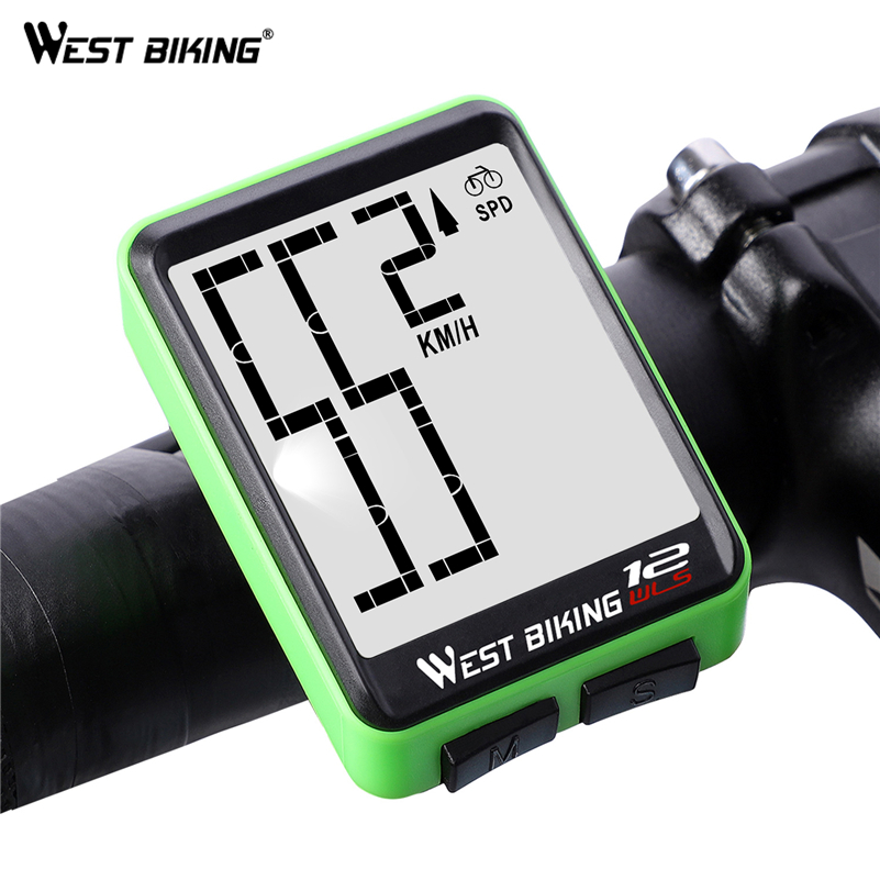 Image 4 - WEST BIKING Wireless Bicycle Computer Large Digital Bike Computer Odometer Speedometer Bike Thermometer Waterproof LCD Backlight-in Bicycle Computer from Sports & Entertainment
