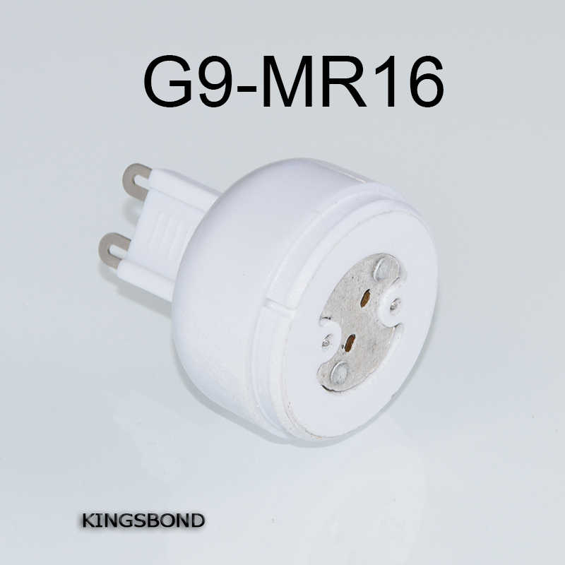 Freeshipping 10pcs/lot portable G9 led lamp base converter light bulb adapter holder G9 to MR16,G4,G5.3,GY6.35,G8 led socket
