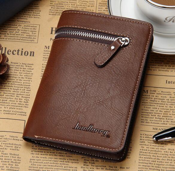 c22597c2dc67a Men s Vintage Short Wallet PU Leather Passport Wallet For Men Men s Purse  Travel Wallet Coin Purse