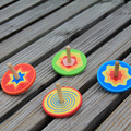 4pcs/lot multicolored Spinning top,colorful Wood gyro,Kindergarten toys,Wood toys,Birthday gift,Christmas gift toys