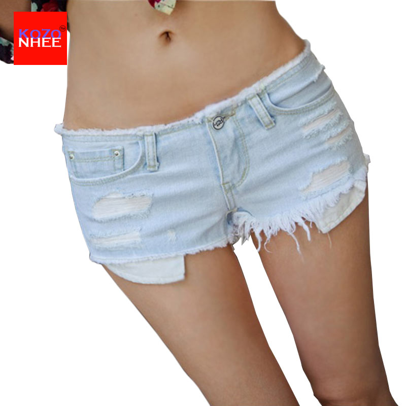 2017 Summer Shorts Women Vintage Club jeans Denim Shorts Sexy Hip Hop Skull Patch Plus Size Ripped Shorts