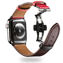 Leather Strap for apple watch band 4 44mm 40mm Iwatch correa apple watch 42mm 38mm wrist belt series 3 2 1 watch Accessories цены онлайн