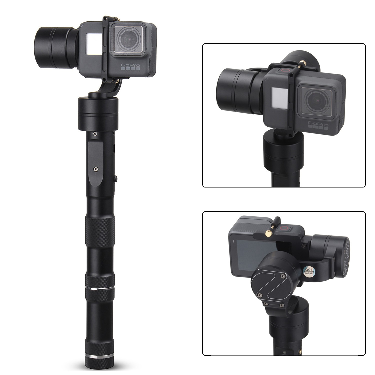 Zhiyun Z1-EVOLUTION 3-Axis Handheld Stabilizer Brushless Gimbal for GoPro Hero 5 zhiyun z1 rider2 3 axle handheld brushless gimbal for skiing