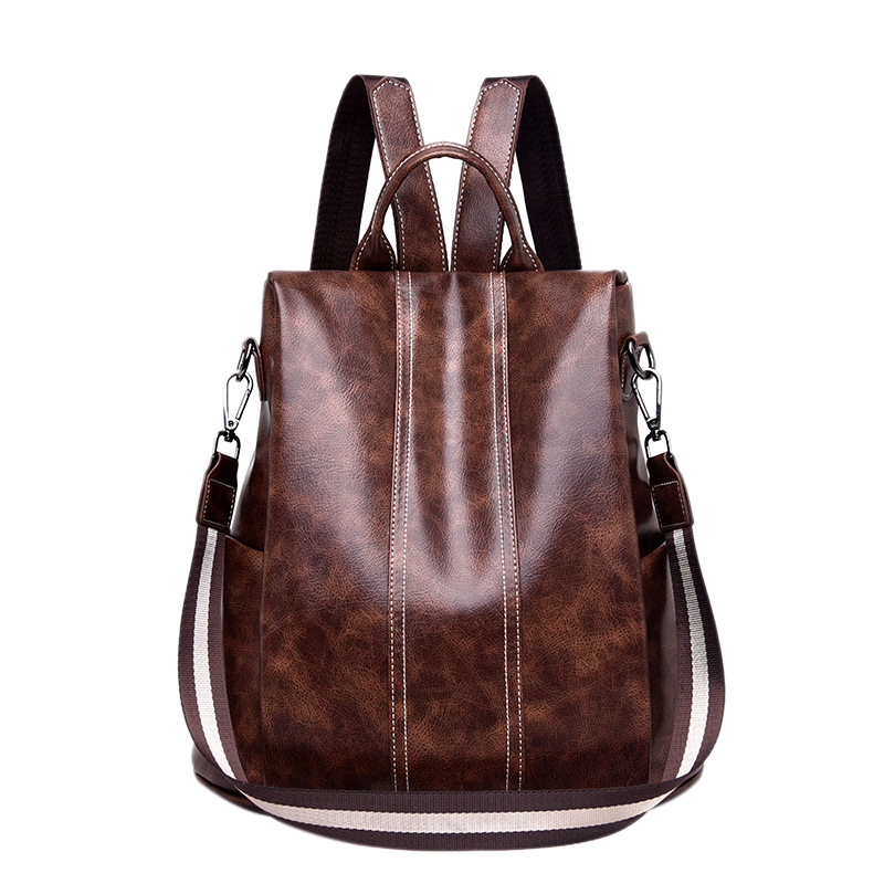 Womens Backpack Purse Pu Leather Anti-Theft Backpack Casual Satchel School Shoulder Bag