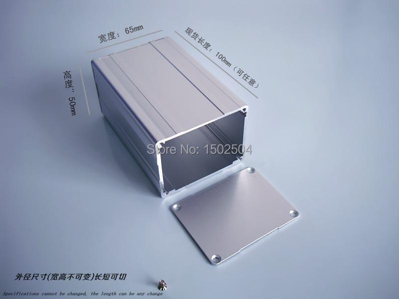 Aluminum enclosure Instrument shell electronics pcb project box desktop DIY 65*50*100mm NEW customize 1 pc white small plastic network enclosure diy pcb aluminum project box case140 100 30 mm 5 5 3 9 1 2 inch