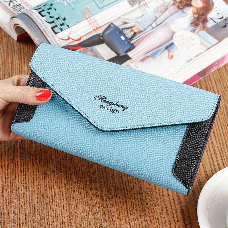 цена Korean Candy Color Women Wallet Clutch Wallet Female Case Phone Carteiras Femininas Money Bag Purse Card Holder Vintage онлайн в 2017 году