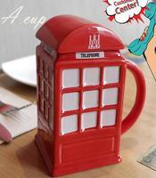 Puckator Box Mug Painting Creative Ceramic Coffee Breakfast Milk Water Mug Porcelain Cup Home Drinkware Gift