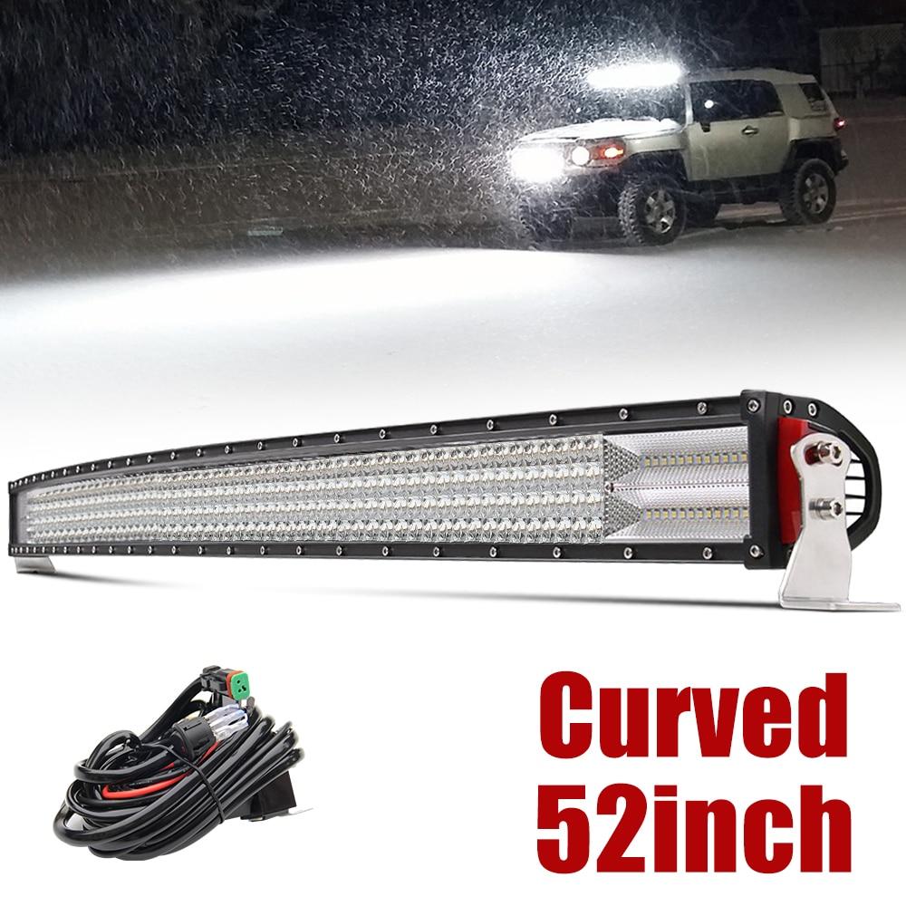 Со светом 12D светодио дный свет бар автомобиля 52 дюймов 924 Вт 4 ряда светодио дный бар Offroad пятно Наводнение Combo дальнего света для тягач ATV вне...