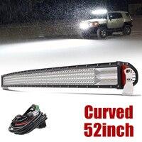Со светом 12D светодио дный свет бар автомобиля 52 дюймов 924 Вт 4 ряда светодио дный бар Offroad пятно Наводнение Combo дальнего света для тягач ATV вне