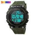 SKMEI Outdoor Sports Watches Men LED 50M Waterproof Digital Pedometer Wristwatches Chronograph Military Army Watch 1112