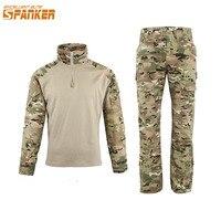 EXCELLENT ELITE SPANKER Outdoor Army Men's Military Suit Camouflage G3 Tactical Sets Hunting Jungle Combat Male BDU Uniform