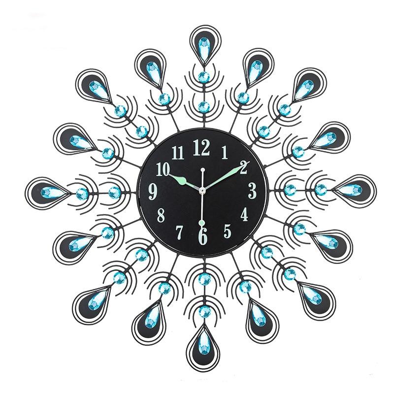 Q 60x60cm Peacock Shaped Large Wall Clock Creative Clock