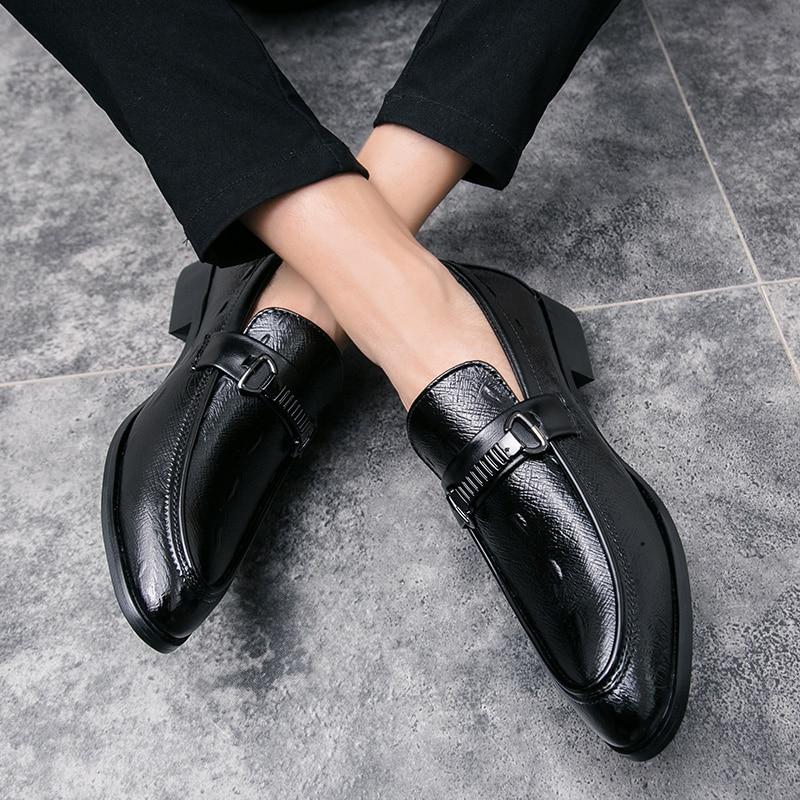 ad7ad77bc Da Sapato De Sapatos Casamento Em Nova Homem Formal Vestir Escritório Homens  Para Moda Trabalho Clássico Festa Couro ...