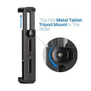Image 4 - Suporte de alumínio do tripé do pc da tabuleta com a placa da liberação rápida para o ipad mini/4/pro/superfície pro 8 dja99